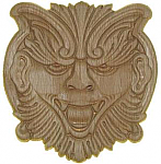 Mythical Creature Face Center Applique