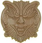 Oak Wood Embossed Gingerbread Applique