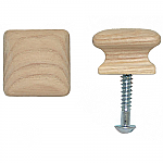 Solid Oak Square Cabinet Knob