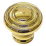 Round Art Deco Brass Knob