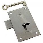 Large Heavy Steel Wardrobe Door Lock & Skeleton Key