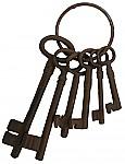 Large Cast Iron Jailers Key Set