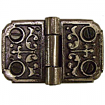 Ornate Cast Iron Flush Hinge