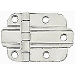 Nickel Art Deco Flush Hinge Pair