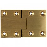 Square Satin Brass Butler Tray Hinge Pair