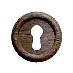 Large Walnut Keyhole Cover