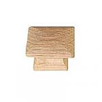 Small Solid Oak Pyramid Cabinet Knob