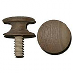 Threaded Walnut Drawer Knob