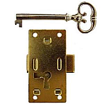 Medium Flush Mount Cabinet Door Lock & Skeleton Key