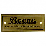 Boone Campbell-Smith-Ritchie Cabinet Label