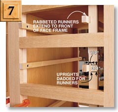 The Dadoed Uprights Center The Runners In The Drawer Openings. Screw These  Frames To The Back Of The Face Frame And To The ...